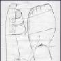 Ontwerp voor de sandalen van de boetelingen